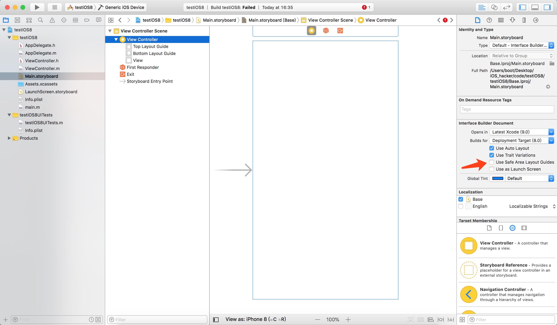 Xcode 9 新建的工程如何支持 iOS 8